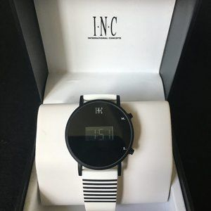INC Watch with Black Stripe Band (M9)